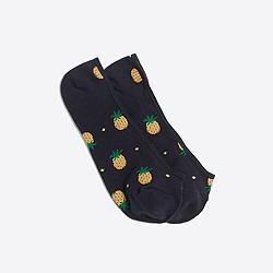 Pineapple no-show socks