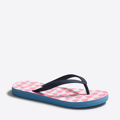 Girls' printed flip-flops