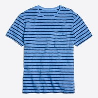 Deck-striped garment-dyed T-shirt