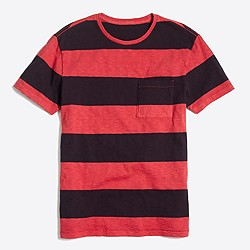 Surf striped sunwashed garment-dyed T-shirt