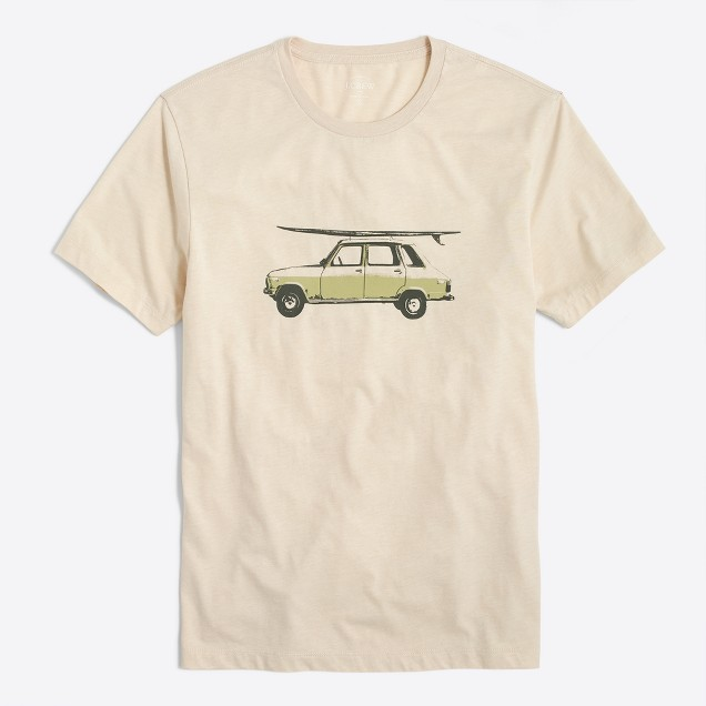 Vintage Car T Shirt Factorymen Stripes Graphics Factory