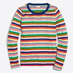 Mixed-stripe Teddie sweater