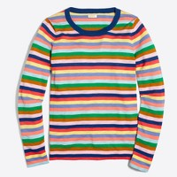 Mixed-stripe Teddie sweater