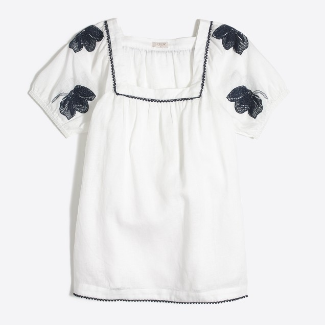 Linen peasant T-shirt