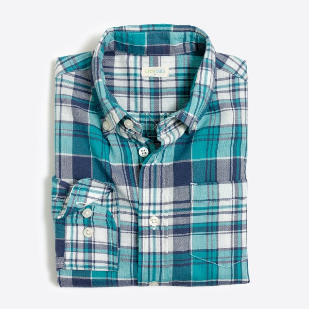 Boys' madras shirt