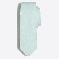 Scattered dot cotton-linen tie