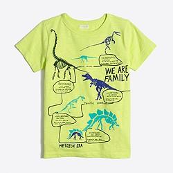 Boys' glow-in-the-dark dino timeline storybook T-shirt