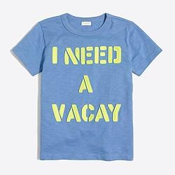 Boys' I need a vacay storybook T-shirt