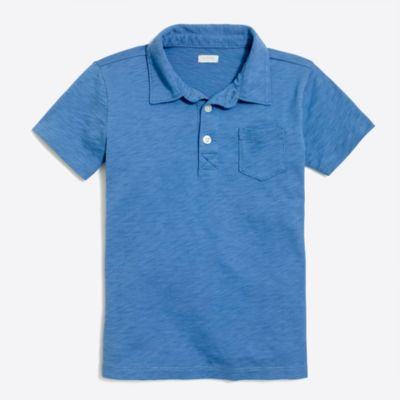 Boys' sunwashed garment-dyed polo shirt factoryboys knits & t-shirts c