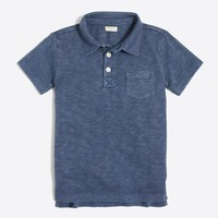 Boys' sunwashed garment-dyed polo shirt