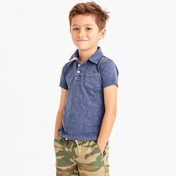 Boys' sunwashed garment-dyed polo shirt