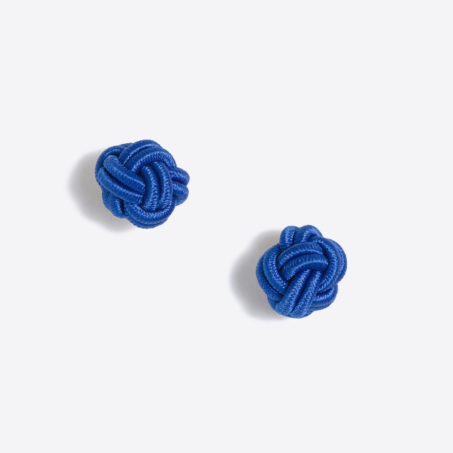 Fabric knot stud earrings