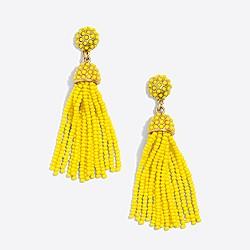 Dot drop tassel earrings
