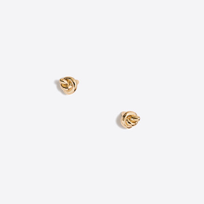 Golden knot stud earrings