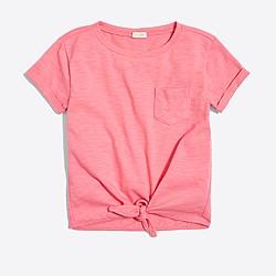 Girls' tie-front T-shirt