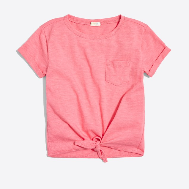 Girls' tie-front T-shirt