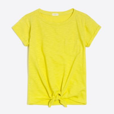 Girls' tie-front T-shirt factorygirls made-for-play basics under $25 c