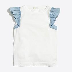 Girls' flutter-sleeve tank top