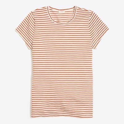 Metallic striped studio T-shirt