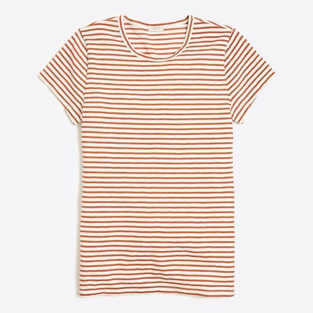 Metallic striped studio T-shirt