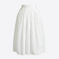 Clip-dot midi skirt