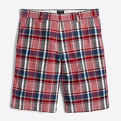 """11"""" mixed-plaid linen-cotton Rivington short"""