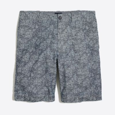 "9"" floral flex chambray Gramercy short"