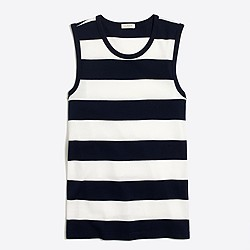 Striped perfect-fit shell