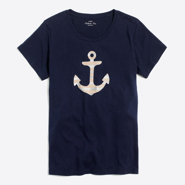 Striped anchor collector T-shirt