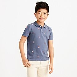Boys' allover critter piqué polo shirt