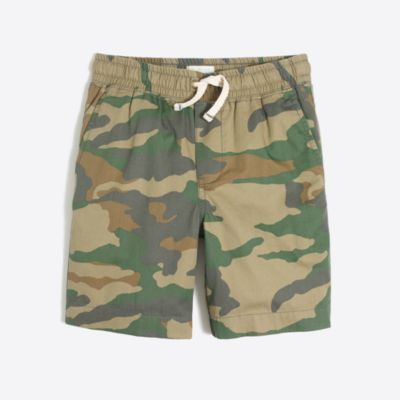 Boys' camo pull-on short