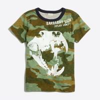 Boys' glow-in-the-dark lion skull storybook T-shirt