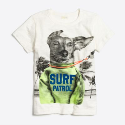 Boys' surf patrol dog storybook T-shirt