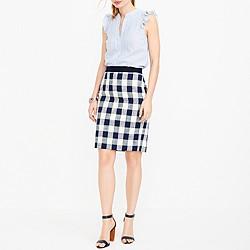 Pencil skirt in cotton-linen tweed