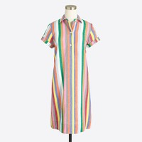 Colorful stripe shirtdress