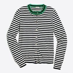 Tipped stripe Caryn cardigan sweater