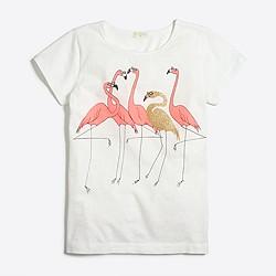Girls' flamingo party keepsake T-shirt