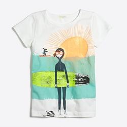 Girls' Maddie surfboard keepsake T-shirt