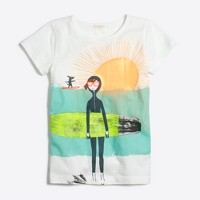 Girls' Maddie surfboard keepsake T-shirt