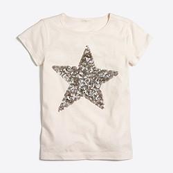 Girls' sequin star keepsake T-shirt