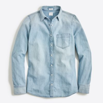 Petite chambray shirt in perfect fit factorywomen petite c