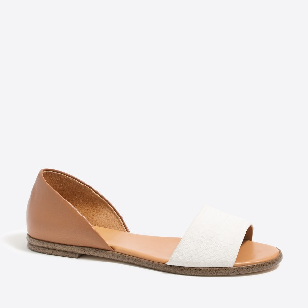 Morgan colorblock peep-toe flats