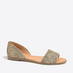 Morgan calf hair Peep-toe flats