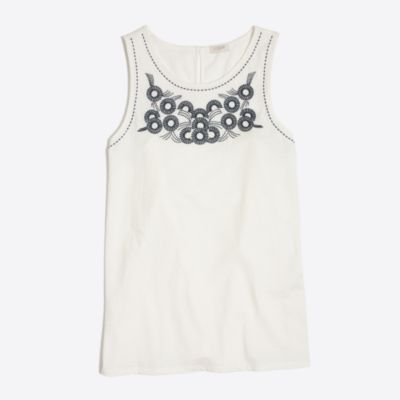 Embroidered sunflower tank top