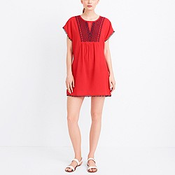 Embroidered pom-pom tunic