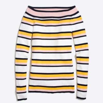 Striped off-the-shoulder sweater : FactoryWomen Pullovers | Factory