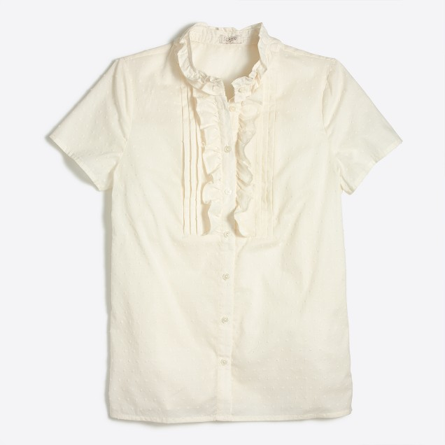 Ruffle-trim T-shirt