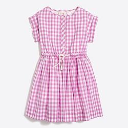 Girls' gingham shirtdress