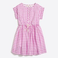Girls' gingham shirtdress