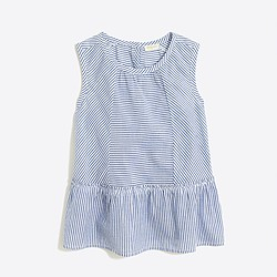 Girls' striped peplum shirt
